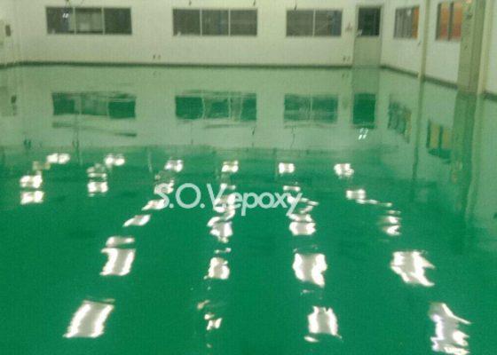 พื้นโรงงานสีเขียว
